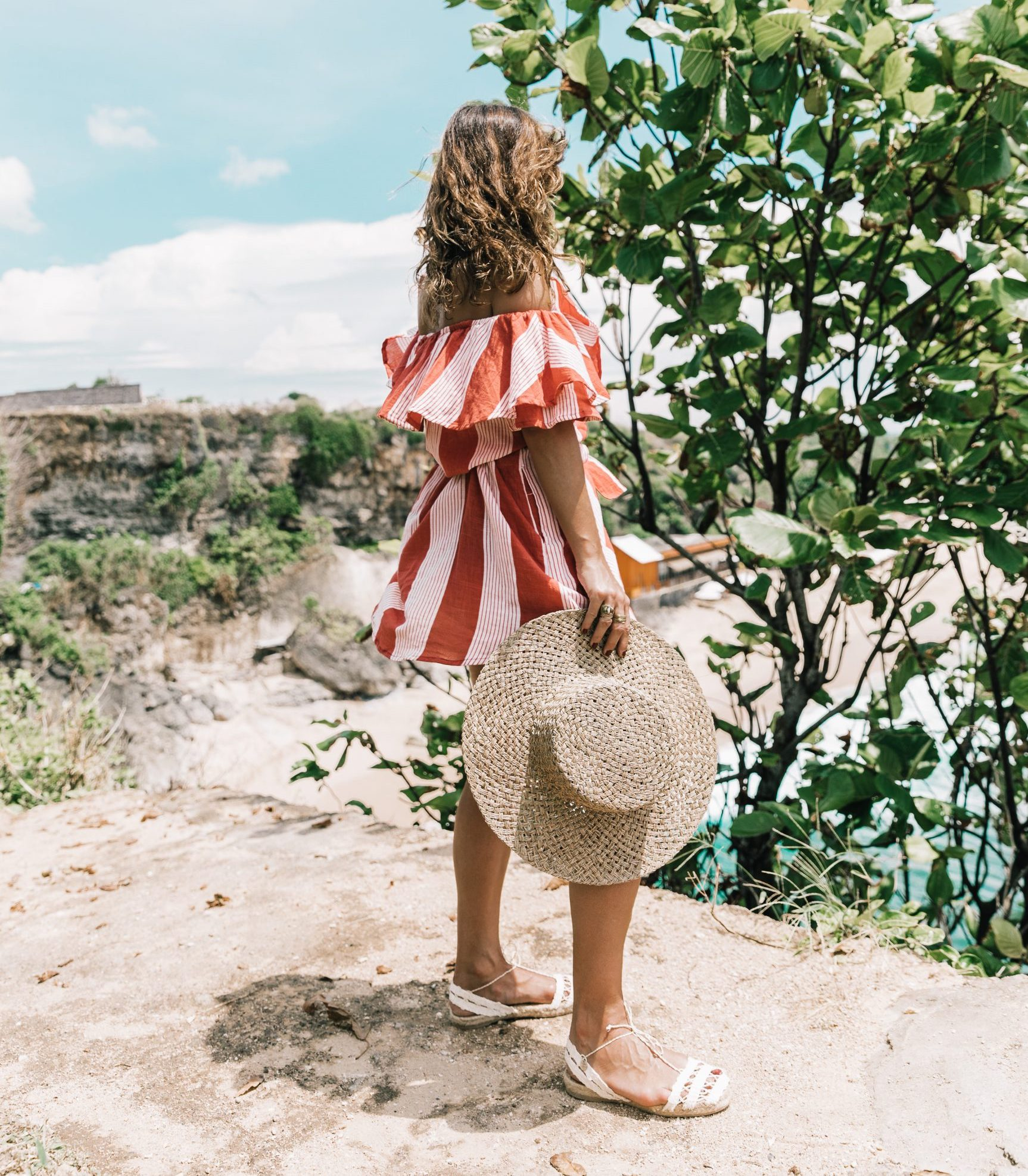 Bali-Uluwatu-Faithfull-Stripped_Dress-Off_The_Shoulders-Red_Dress-Straw_Hat-Espadrilles-52-1800x2700-2